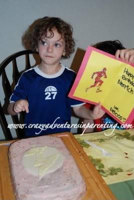 Flash birthday card with Flash birthday cake