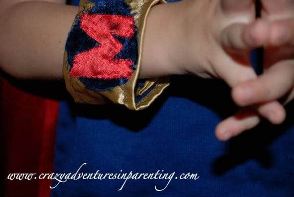 super hero costume wristlets