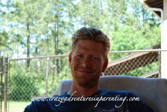 handsome husband smiling