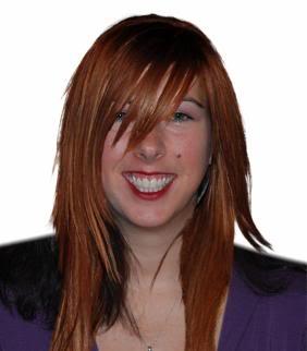 Lisa with Ashlee Simpson's hair