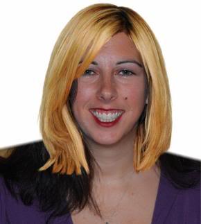 Lisa with Heidi Klum's hair