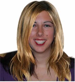 Lisa with Jennifer Aniston's hair