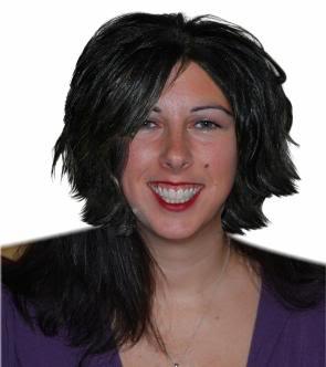 Lisa with Jennifer Hudson's hair
