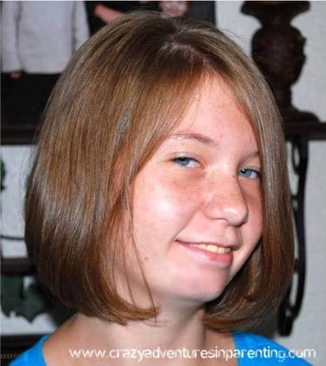Teenager hair cut