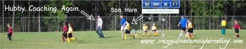 husband coaching soccer