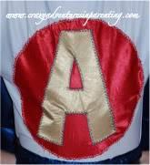 super hero applique shirt