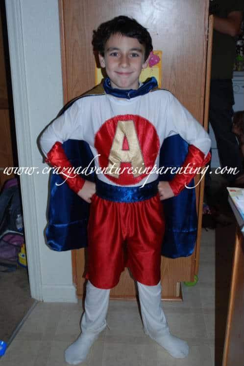 handmade super hero costume