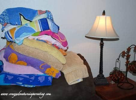 towels folded