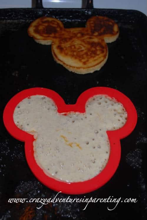 mickey shaped pancakes