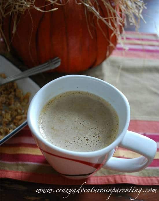 DIY sugar free pumpkin latte