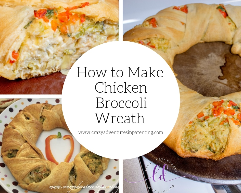 How to Make Chicken Broccoli Wreath