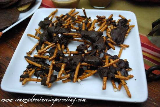 Halloween Recipes Chocolate Spiders