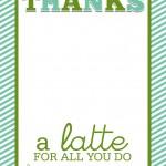 """Easy Teacher Gift Craft """"Thanks a Latte"""" Starbucks Gift Card"""