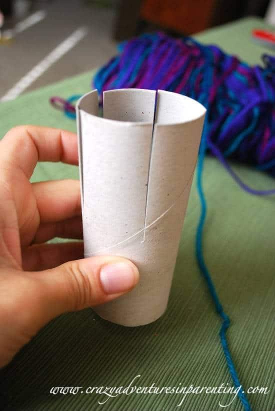 Kid-Friendly Craft: Recycled Yarn Cozi
