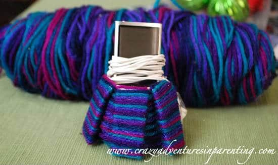 Kid-Friendly Craft: Recycled Yarn Cozi iPod Holder