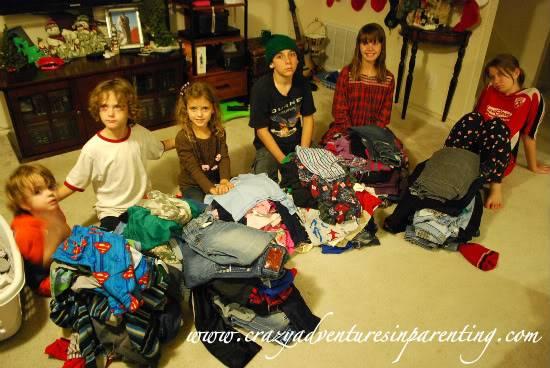 big families laundry
