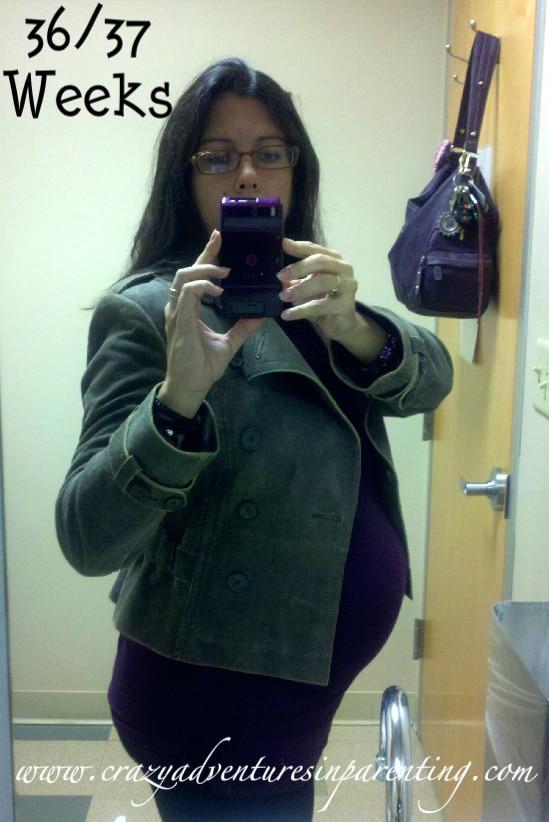 36-37 weeks baby belly