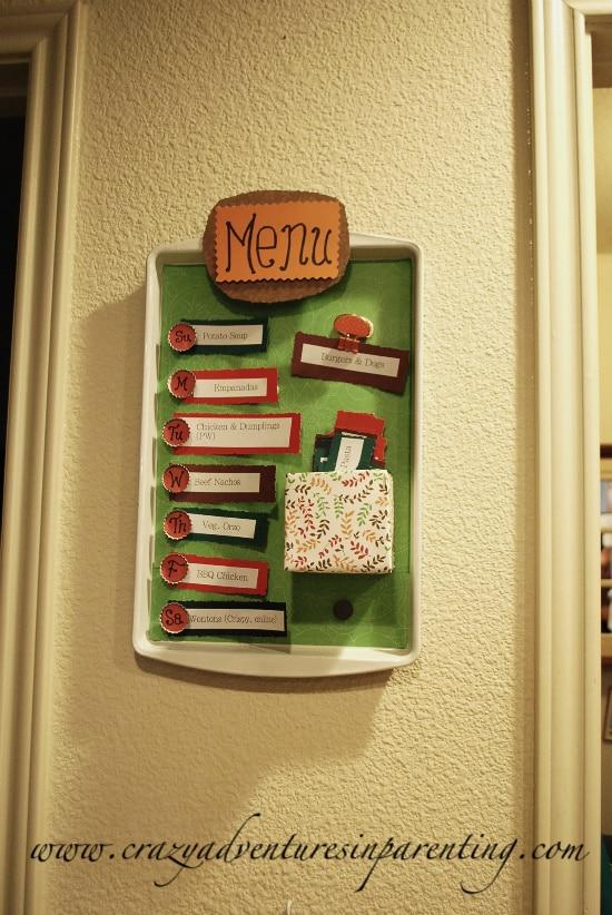 diy menu board