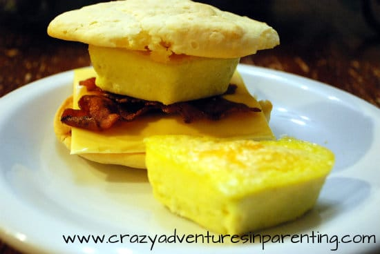 homemade bacon egg and cheese biscuit sandwiches