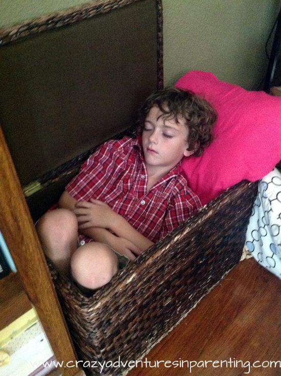 kids sleep anywhere