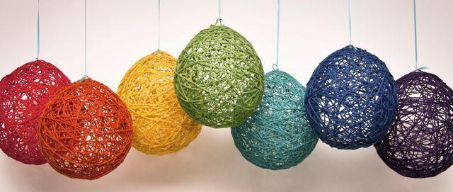 DIY Yarn Balloons