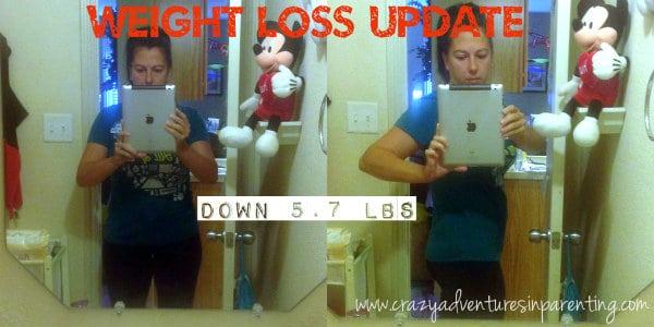 down 5.7 lbs