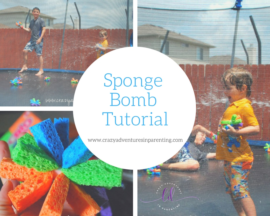 Sponge Bomb Tutorial - how to make sponge bombs water fun for kids