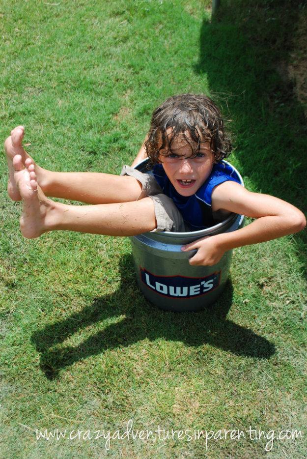Black Kid In Bucket Watermelon