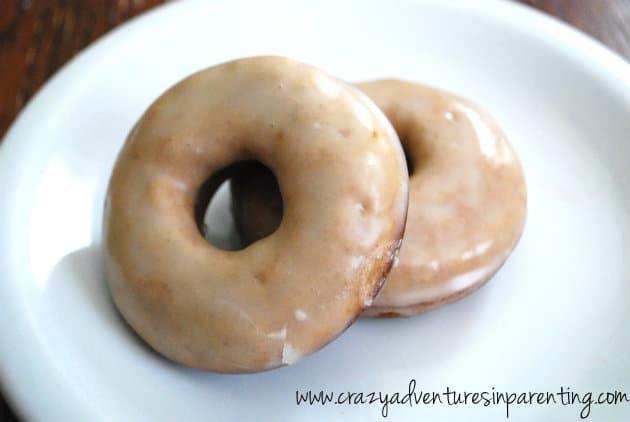 strawberry glazed doughnuts