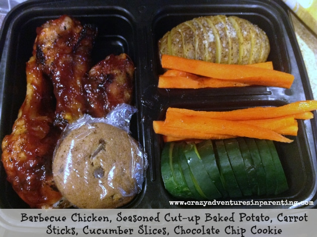 barbecue chicken school lunch bento