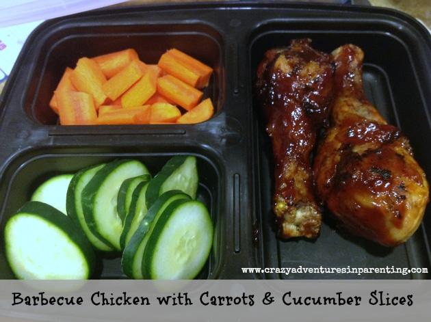 BBQ Chicken Veggies School Lunch