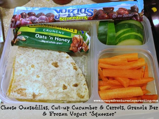 Cheese Quesadilla school lunch