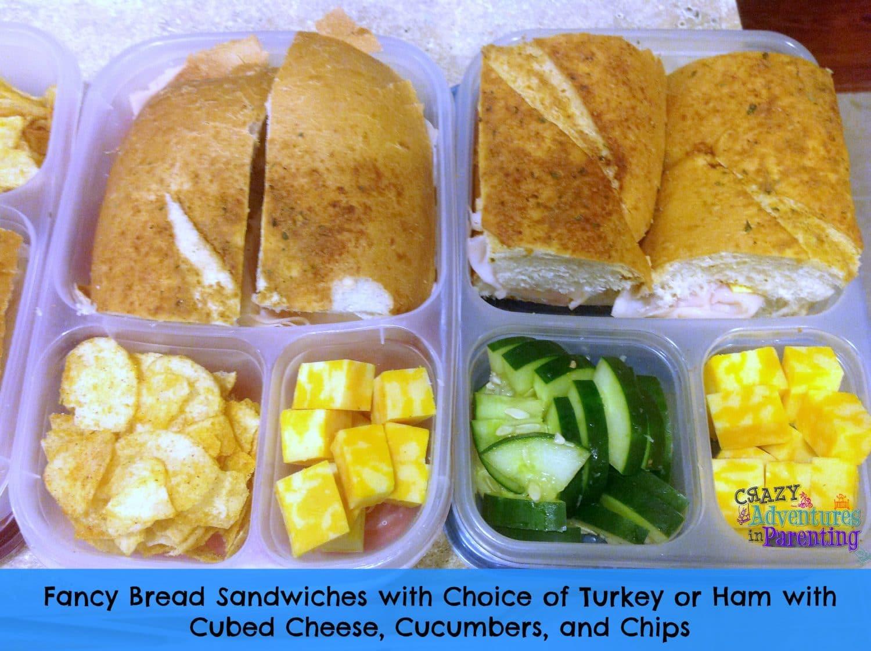 Fancy Bread Sandwiches School Lunch