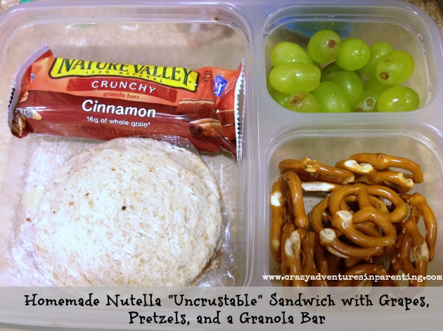 DIY Nutella Uncrustables Sandwich school lunch