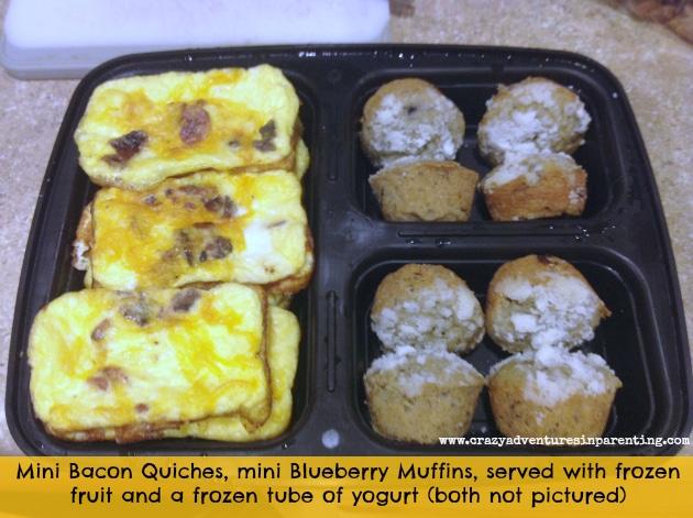Mini Quiche with Bacon school lunch