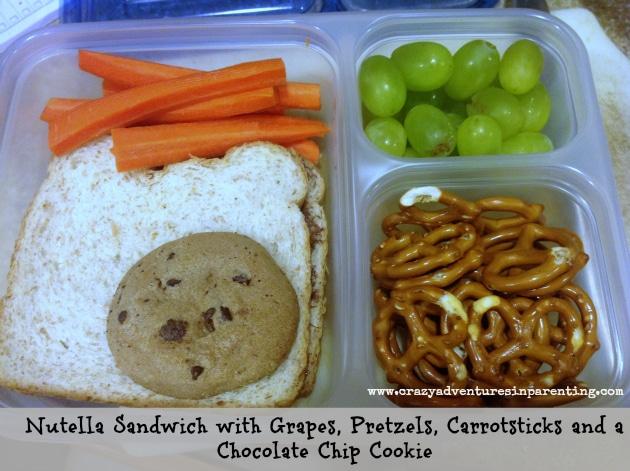 Nutella Sandwich school lunch