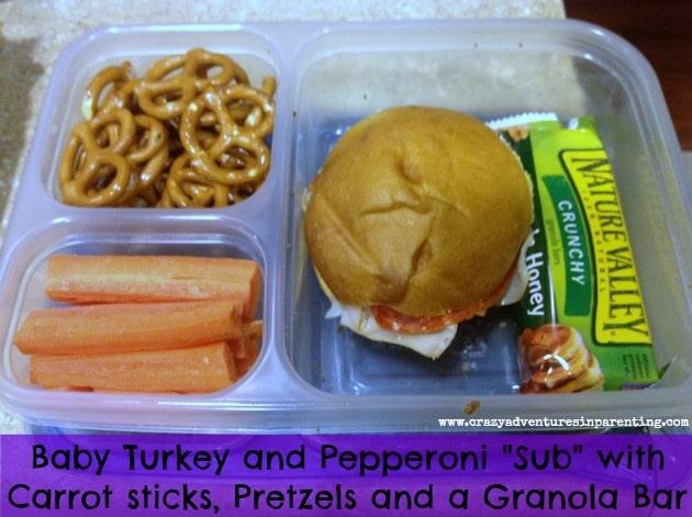 Baby Sub Sandwich School Lunch