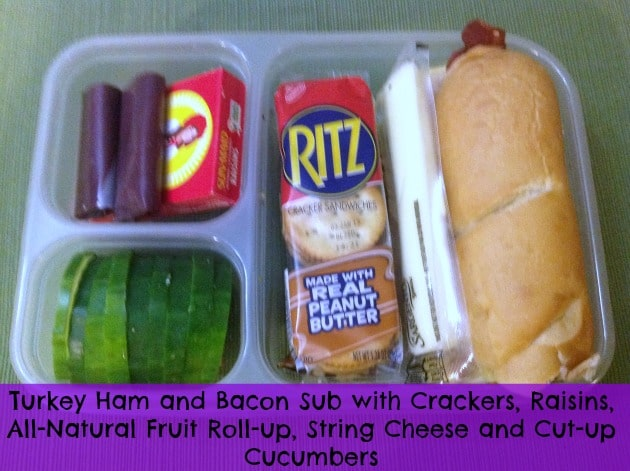 Turkey Bacon Ham Sub School Lunch