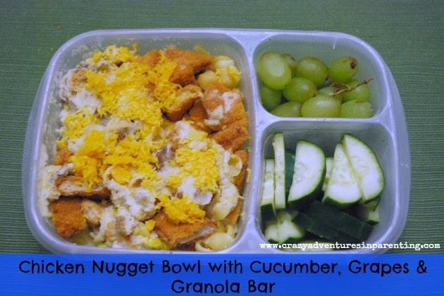 Chicken Nugget Bowls School Lunch