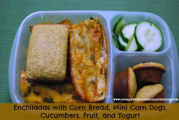 enchiladas corn bread school lunch