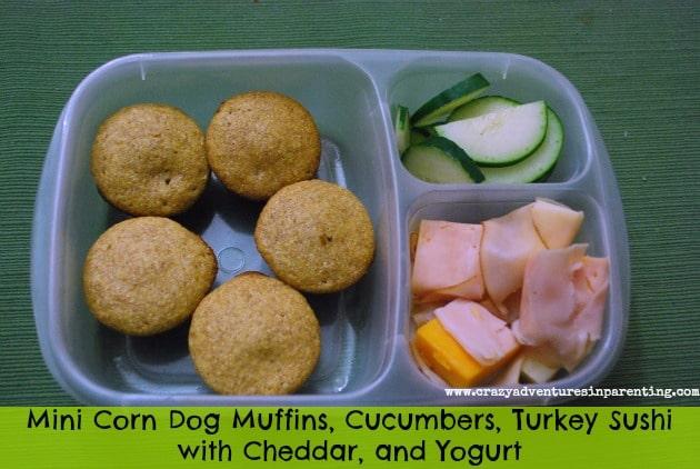 Mini Corn Dog Muffins School Lunch