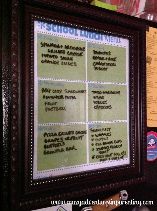 school lunch menu 9/10