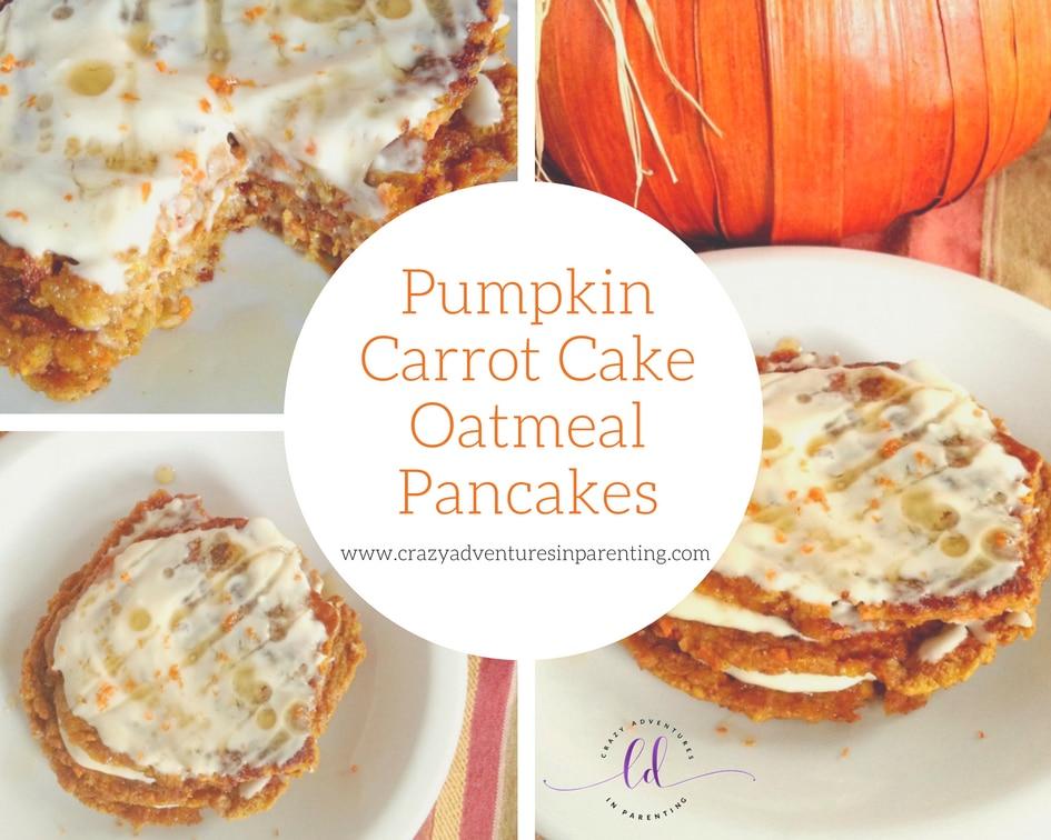 Pumpkin Carrot Cake Oatmeal Pancakes