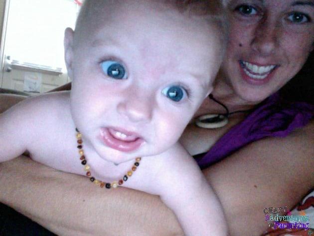 baby v hogging the webcam