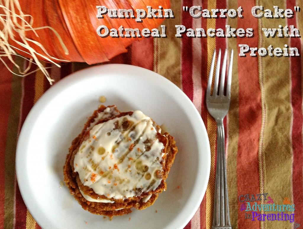 pumpkin carrot oatmeal protein pancakes