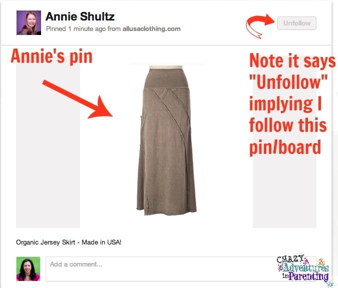 annie's pin