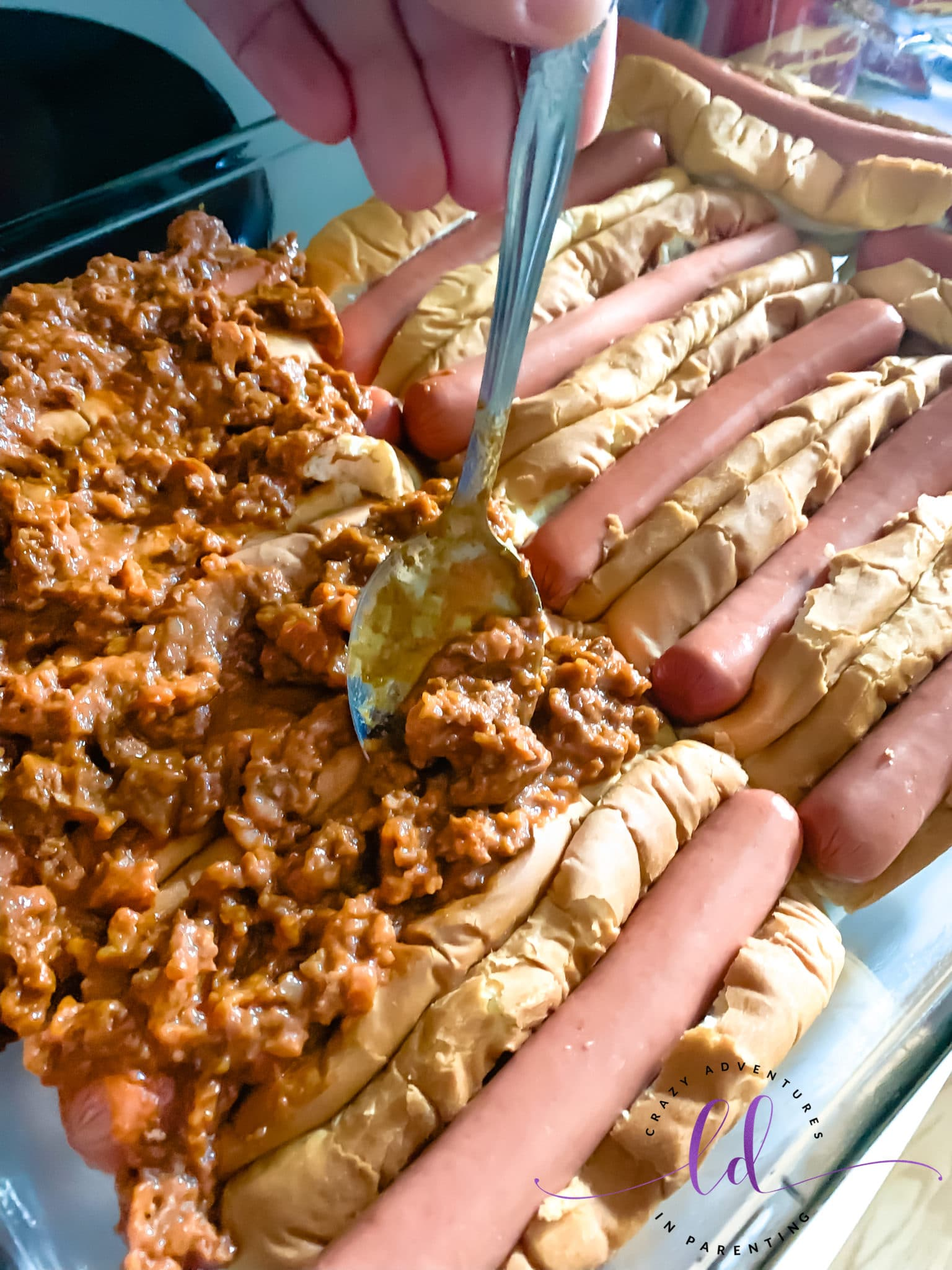 Add Chili to Hot Dogs to Make Easy Baked Chili Dogs