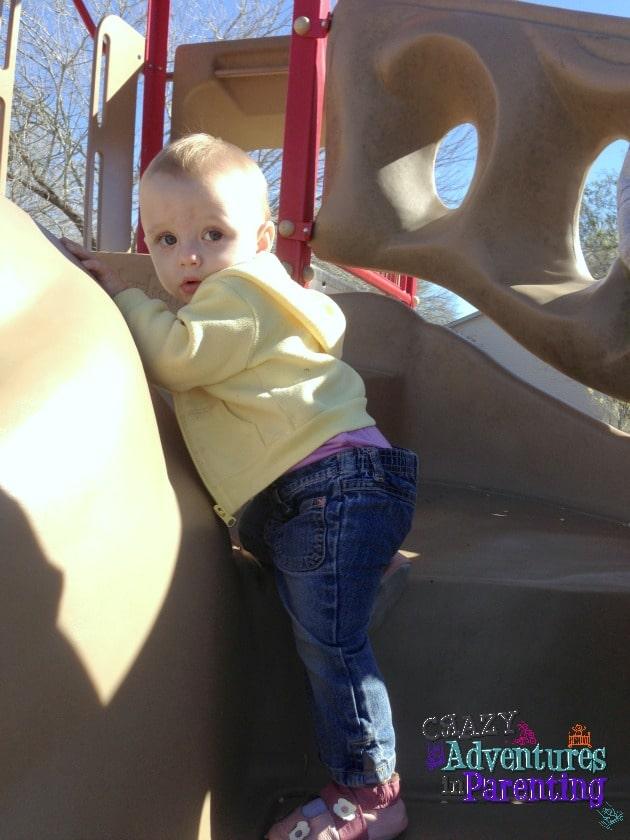 baby v at the park