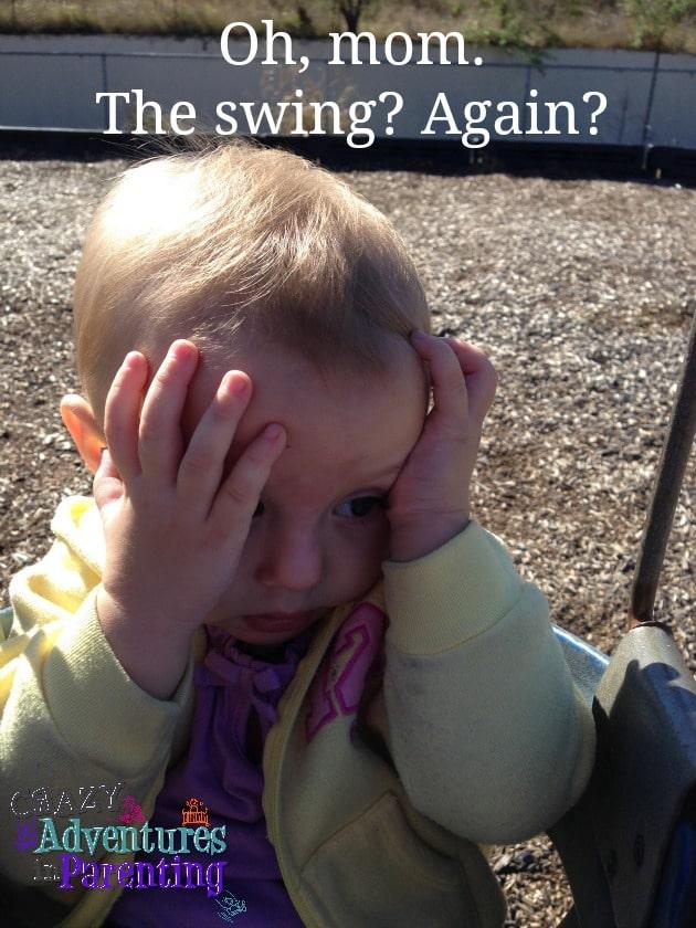 baby v on the swing