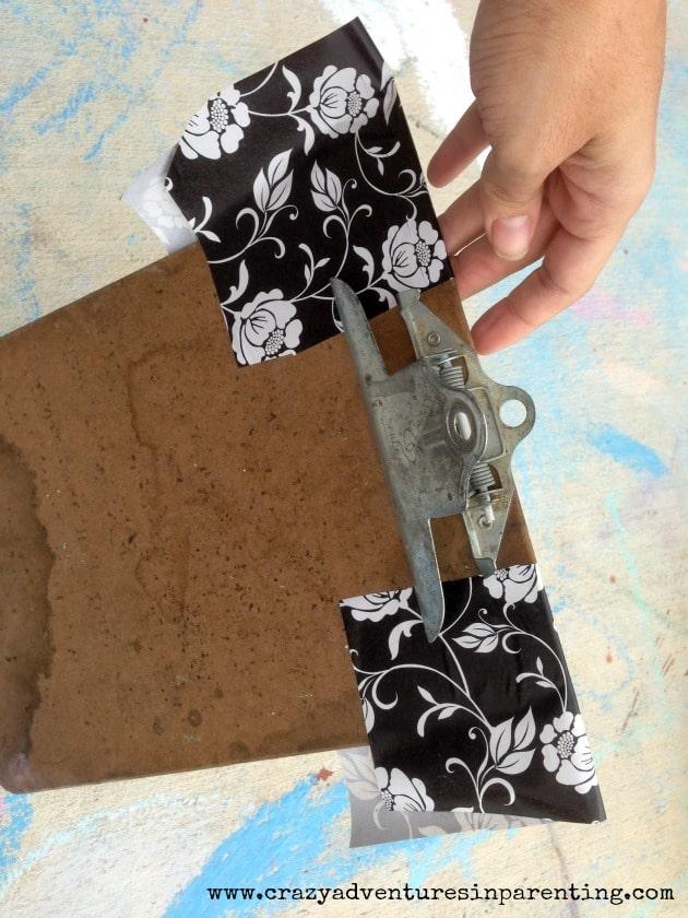 DIY fancy glitter clipboard
